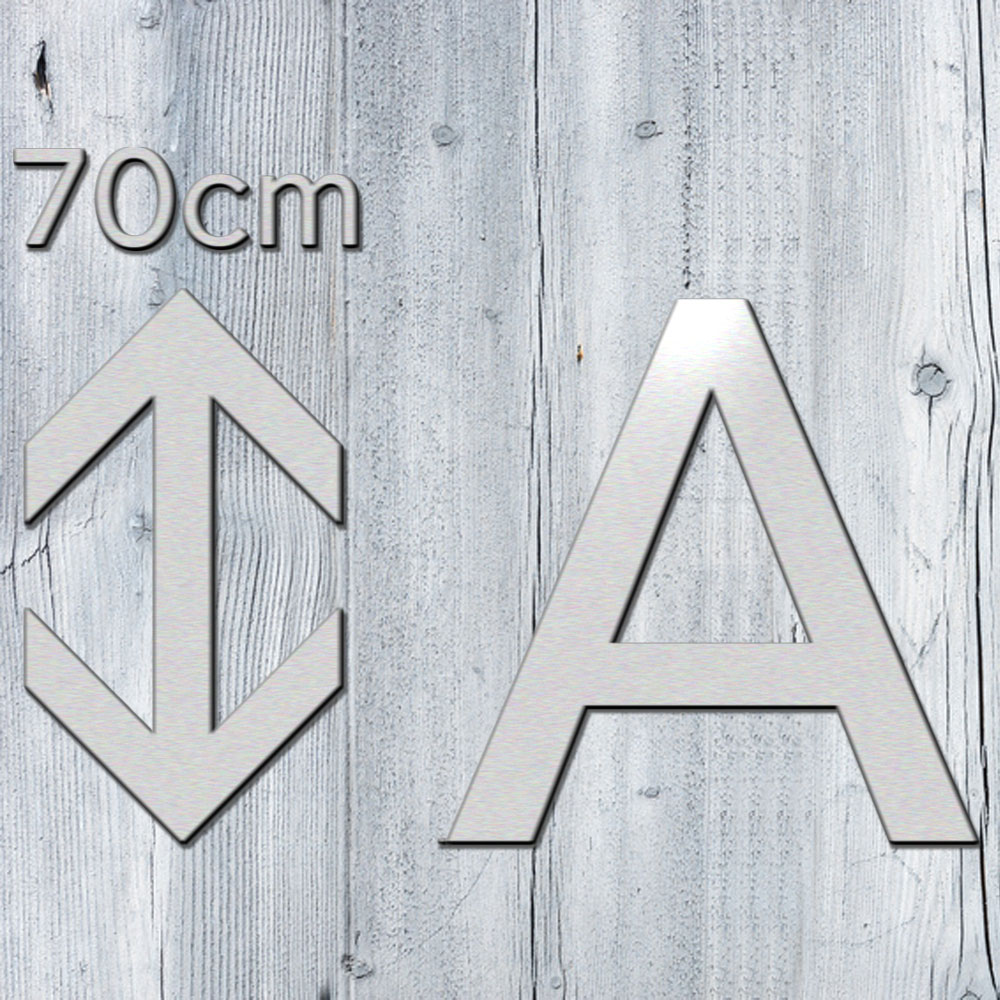 3d buchstaben 70 cm aus 3mm alu dibond kaufen. Black Bedroom Furniture Sets. Home Design Ideas
